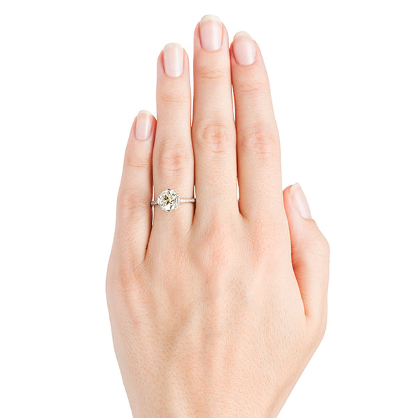 Kensington Vintage Classic Solitaire Diamond Engagement Ring from Trumpet & Horn
