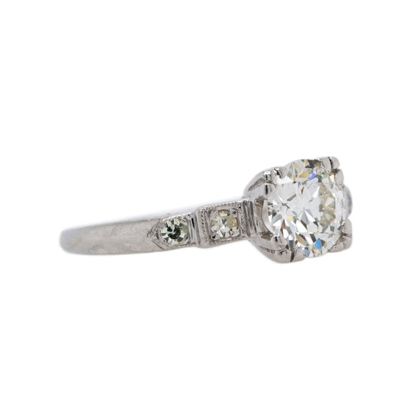 Simple & Symmetrical Art Deco Diamond Engagement Ring | Kettering