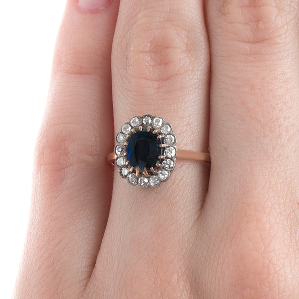 Deep Navy Sapphire Ring | Key Biscane from Trumpet & Horn