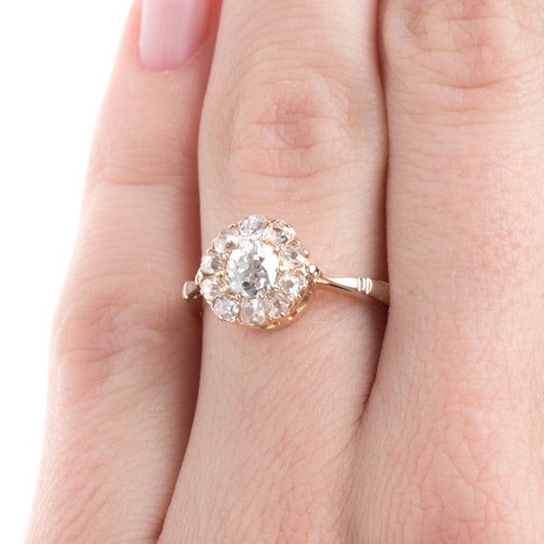 Exquisite Victorian Halo Ring | Keys Ranch from Trumpet & Horn