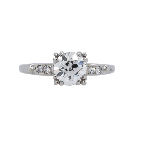 A Lovely Art Deco 18k White gold and Diamond Engagement Ring | Kingsmeadow