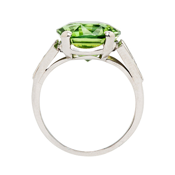 Vintage Green Tourmaline Engagement Cocktail Ring | Kirby