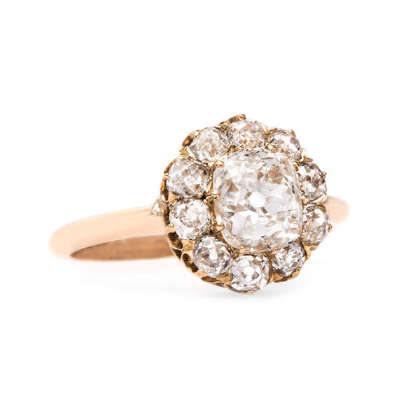 Victorian Cluster Ring with French Hallmarks | Kirkwood from Trumpet & Horn