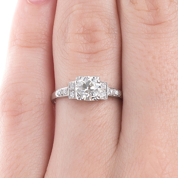 Geometric and Linear Vintage Art Deco Engagement Ring Design | Kirstead from Trumpet & Horn