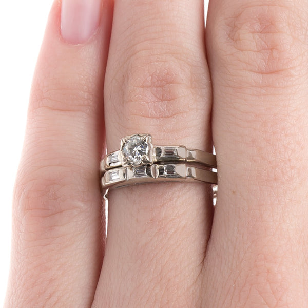 Vintage Engagement Ring and Wedding Band | Kitty Hawk from Trumpet & Horn