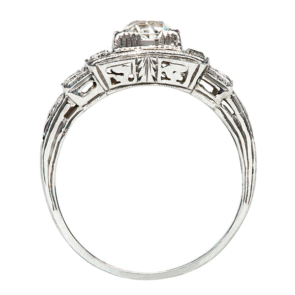 Knightsbridge Vintage Geometric Old Mine Cut Diamond Engagement Ring from Trumpet & Horn