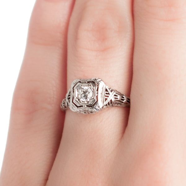 Edwardian Diamond Engagement Ring | Knollwood Lane from Trumpet & Horn