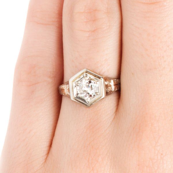 La Crosse Vintage Solitaire Diamond Engagement Ring from Trumpet & Horn