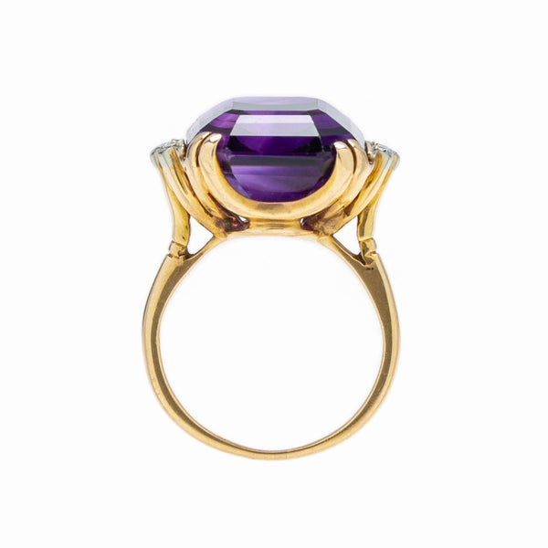 Show-Stopping Retro Vintage 15ct Amethyst Cocktail Ring | Ladera