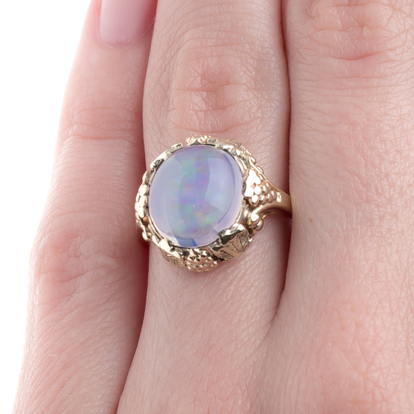 Exceptionally Unique Retro Era Ring with Jelly Opal | Lake Lane from Trumpet & Horn