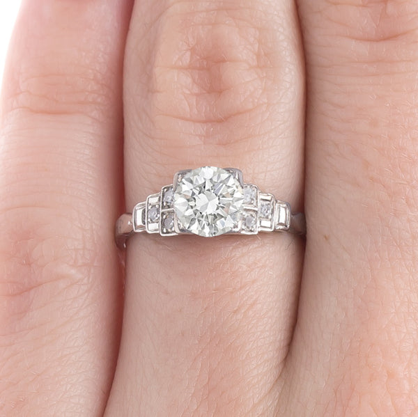 Classically Geometric Art Deco Engagement Ring | Langford from Trumpet & Horn