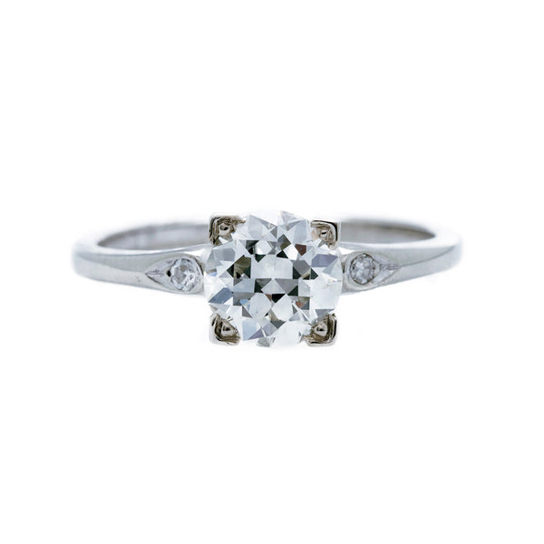 A Timeless Art Deco 14k White Gold and Diamond Engagement Ring | Larkfield