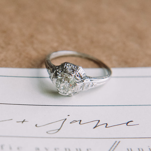 Pomona vintage Edwardian engagement ring | Laura Murray Photography
