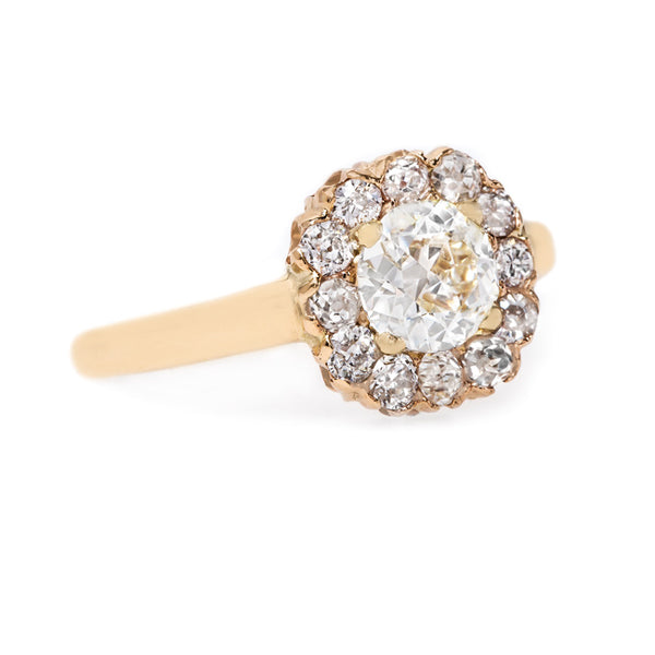 Classic Yellow Gold Cluster Ring | Laurelhurst from Trumpet & Horn