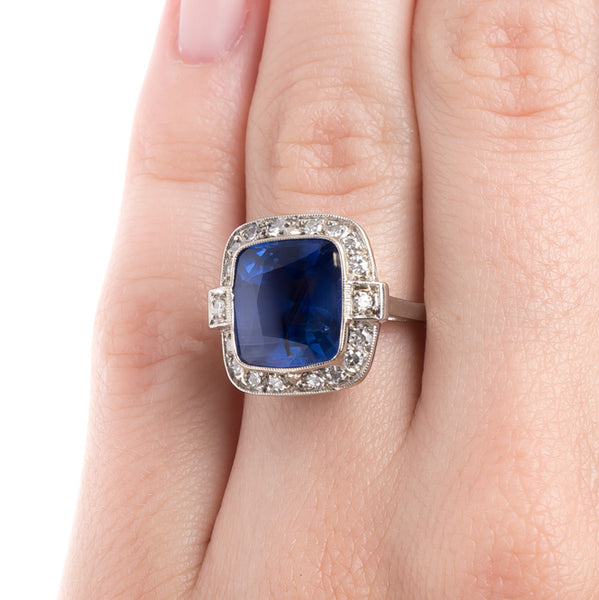 Gorgeous Unheated Sapphire Engagement Ring | Lausanne from Trumpet & Horn