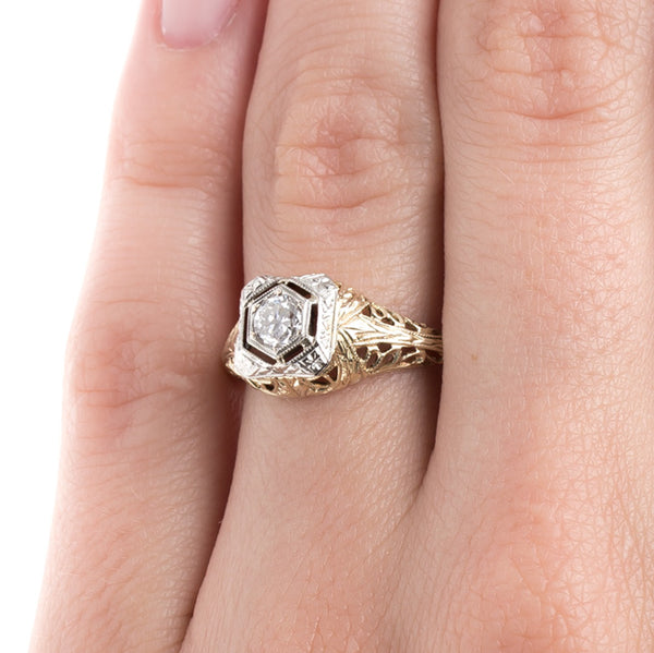 One-of-a-kind Edwardian Solitaire Ring | Lawrenceville from Trumpet & Horn