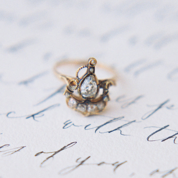 Anchor Ring with Pear Shaped Diamond | Photo by Lea Bremicker