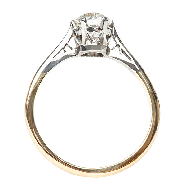 Vintage Classic Diamond Solitaire Enagement Ring