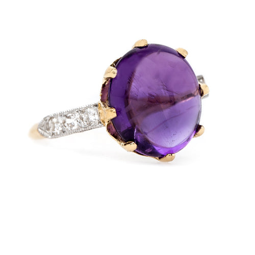 Perfectly Purple Cabochon Amethyst | Lilac Hill from Trumpet & Horn