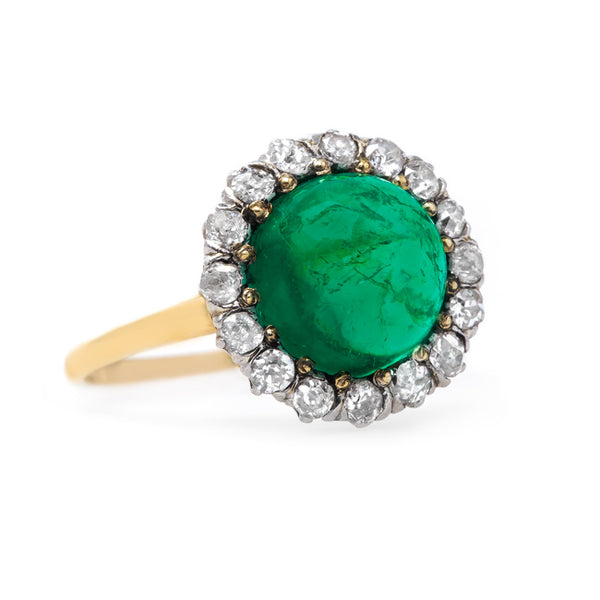 Vibrant Cabochon Emerald Ring | Lincoln Park from Trumpet & Horn