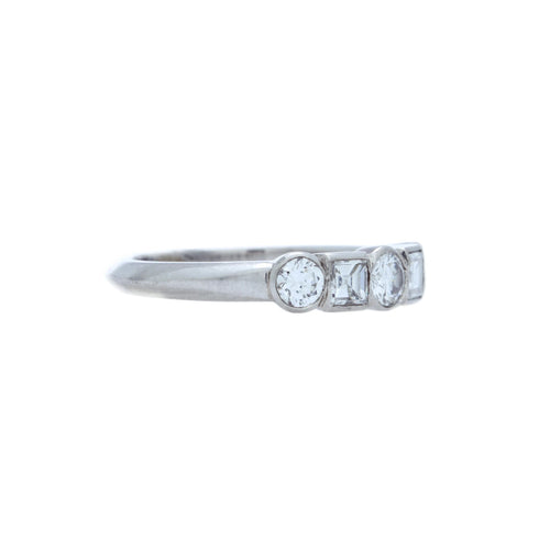 A Divine Platinum and Diamond Wedding Band with English Hallmarks