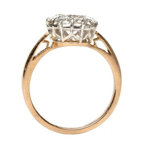 vintage victorian diamond cluster ring