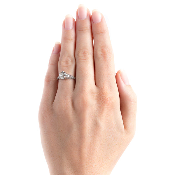 Radiant Early Art Deco Platinum Engagement Ring | Lockhaven from Trumpet & Horn