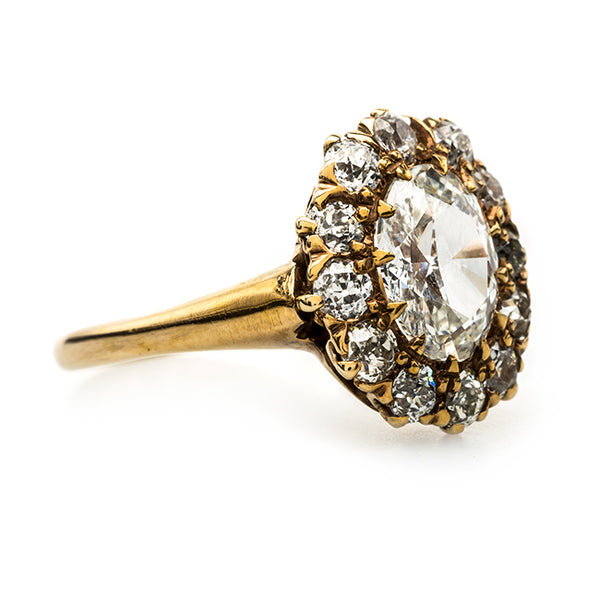 Rare and Unique Oval Shaped Cluster Ring | Lockport from Trumpet & Horn