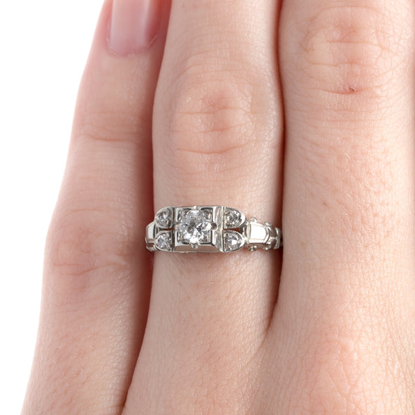 Sparkling Retro Era Diamond Engagement Ring | Lowell from Trumpet & Horn