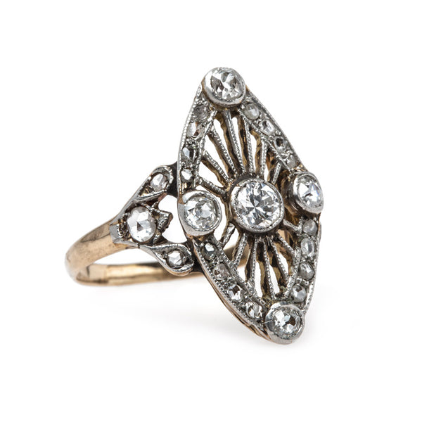 Early Edwardian Era Navette Style Engagement Ring | Lyman from Trumpet & Horn