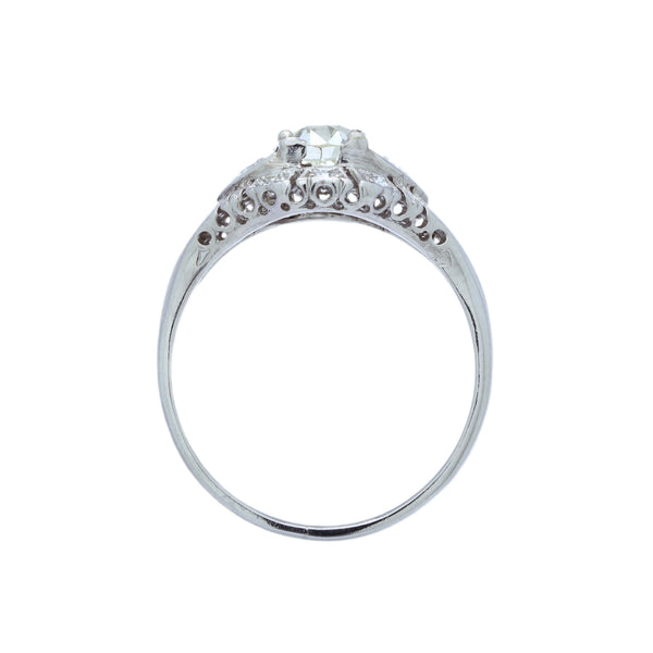 A Delicate Art Deco Platinum and Diamond Engagement Ring
