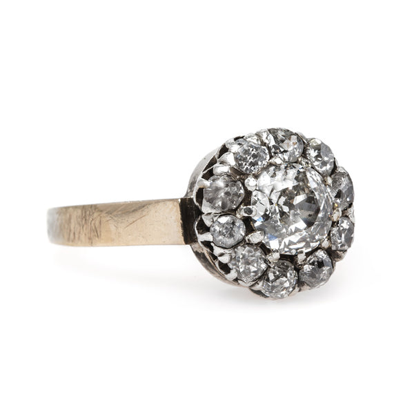 Classic Victorian Era Cluster Engagement Ring with Old Mine Cut Halo | Manila Bay from Trumpet & Horn