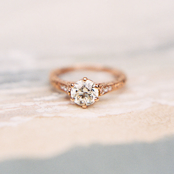 Timeless Rose Gold Solitaire / Photo by Kayla Barker