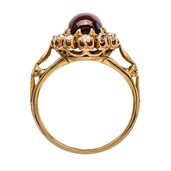 Unique and Historic Brownish Red Garnet Ring | Mariposa