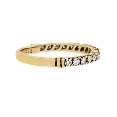 Handcrafted Rose Cut Diamond Band | Marseilles Yellow Gold from Trumpet & Horn