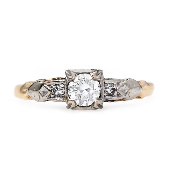 Retro Era Vintage Engagement Ring | McFarlan from Trumpet & Horn