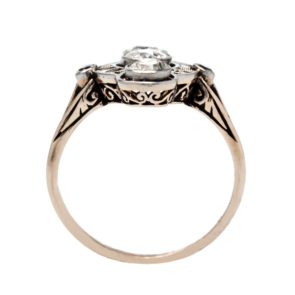 Meadow Brook unusual diamond engagement ring from Trumpet & Horn