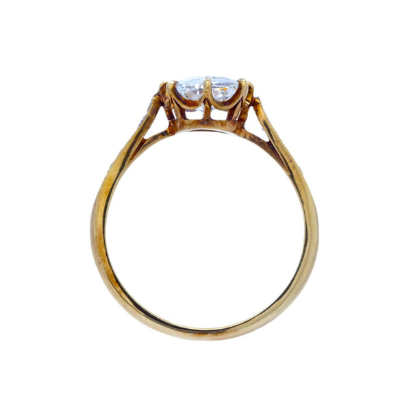 Meridian Cushion | Handmade 18k Yellow Gold engagement ring featuring a 1.27ct Old Mine Cushion Cut