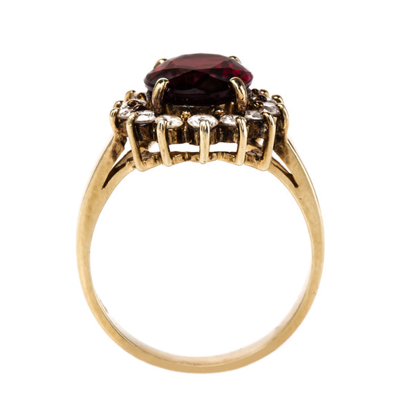 Garnet and Diamond Cocktail Ring | Mesquite from Trumpet & Horn