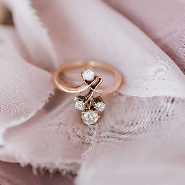 Unique antique Art Novuea nature-inspired ring | Butterfield from Trumpet & Horn | Photo by Michelle Lillywhite