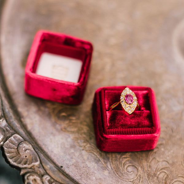 Victorian Antique Ruby Wedding Cocktail Ring | Prairie from Trumpet & Horn | Photo by Michelle Lillywhite