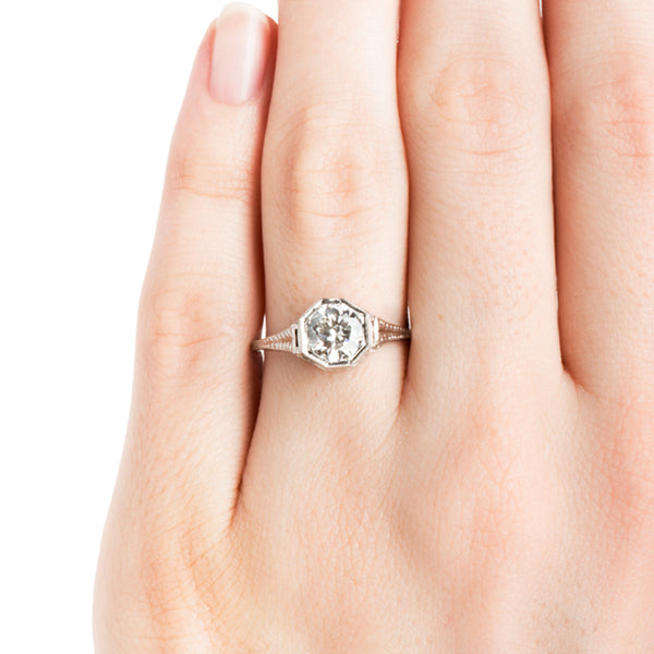 Midville Vintage Classic Solitaire Engagement Ring from Trumpet & Horn