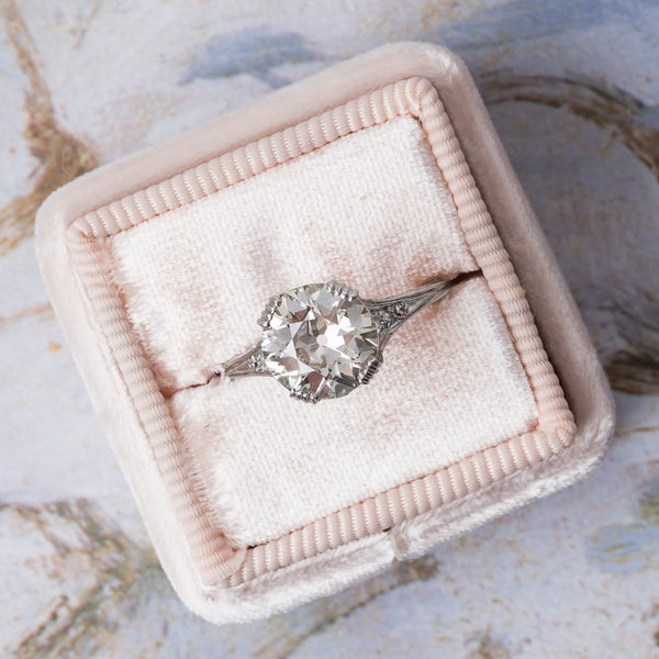 Exceptional Edwardian Era Engagement Ring | Mill Valley from Trumpet & Horn