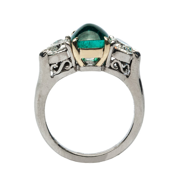 Vintage Emerald and Diamond Engagement Ring | Mint Julep from Trumpet & Horn