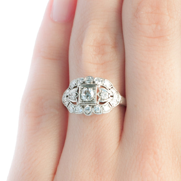 Vintage Art Deco diamond engagement ring from Trumpet & Horn