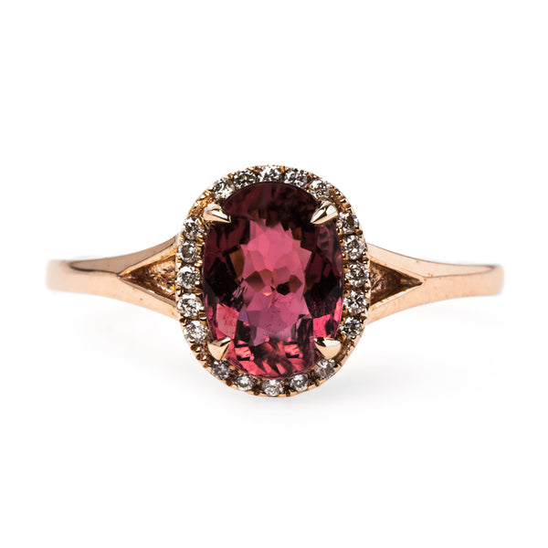 Modern Tourmaline and Diamond Halo Ring | Summerhill from Trumpet & Horn
