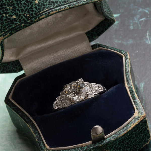 Montecito vintage Art Deco diamond ring from Trumpet & Horn