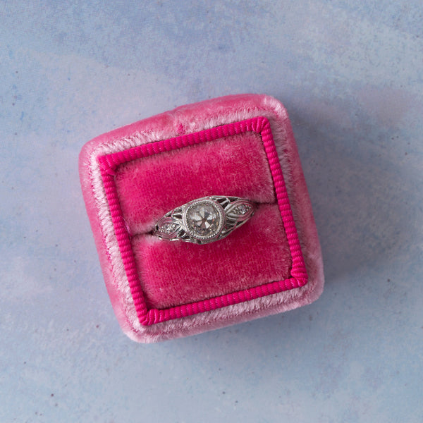 Exquisitely Handcrafted Edwardian Era Bombe Style Engagement Ring | Montpelier from Trumpet & Horn
