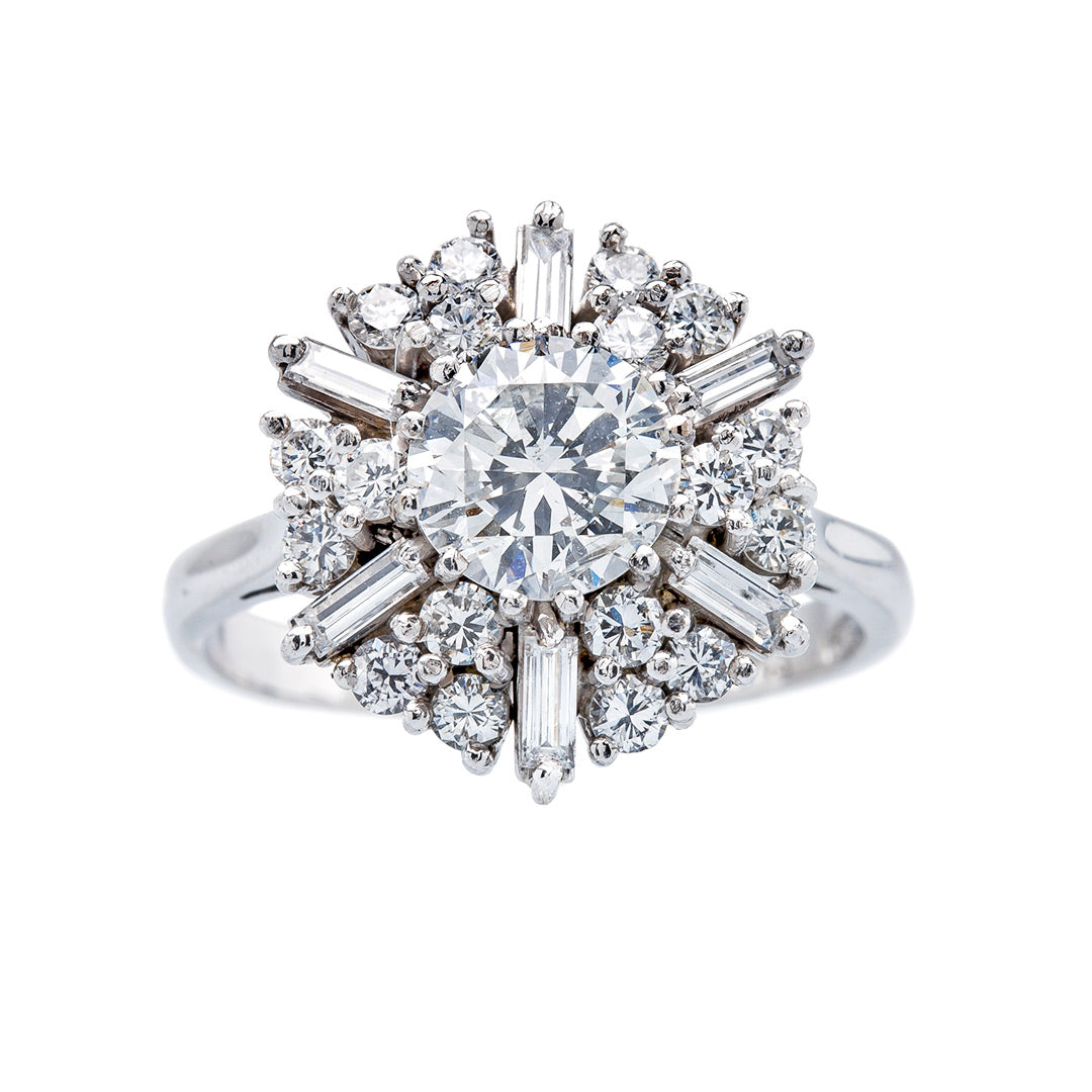 Exceptional Mid-Century Snowflake Ring | Montreal from Trumpet & Horn