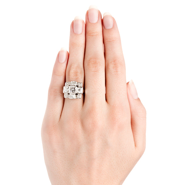 Vintage Unique Geometric Diamond Engagement Ring | Morgan Hill from Trumpet & Horn